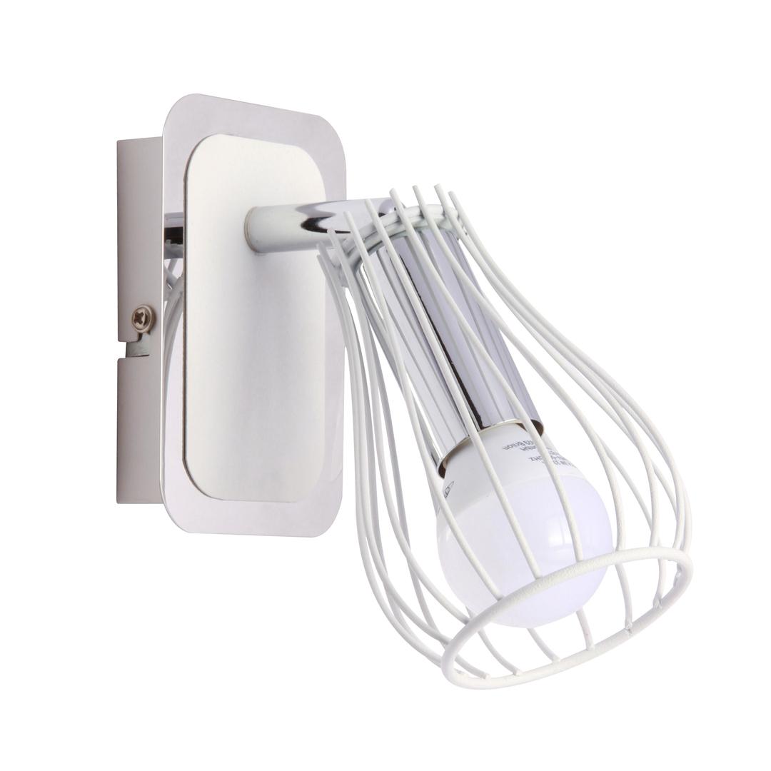Zuma Line CK170519-1 OSCAR WALL LAMP-CHROME / WHITE & CHROME