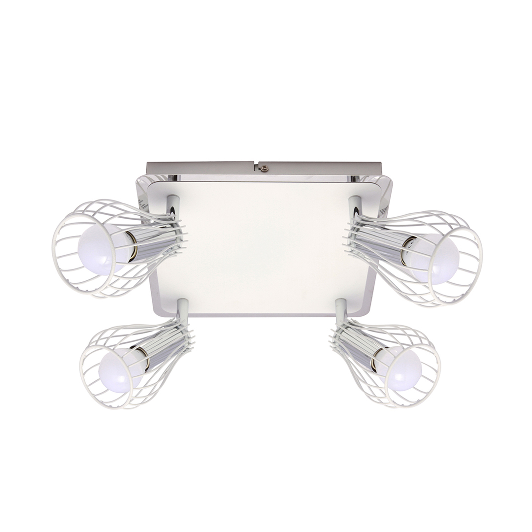 Zuma Line CK170519-4 CEILING OSCAR WHITE-CHROME / WHITE & CHROME