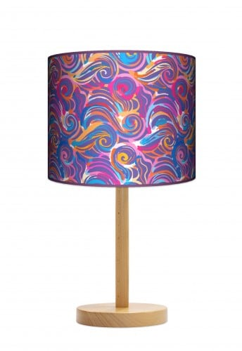 Standing Lamp Big  -  Colorful waves