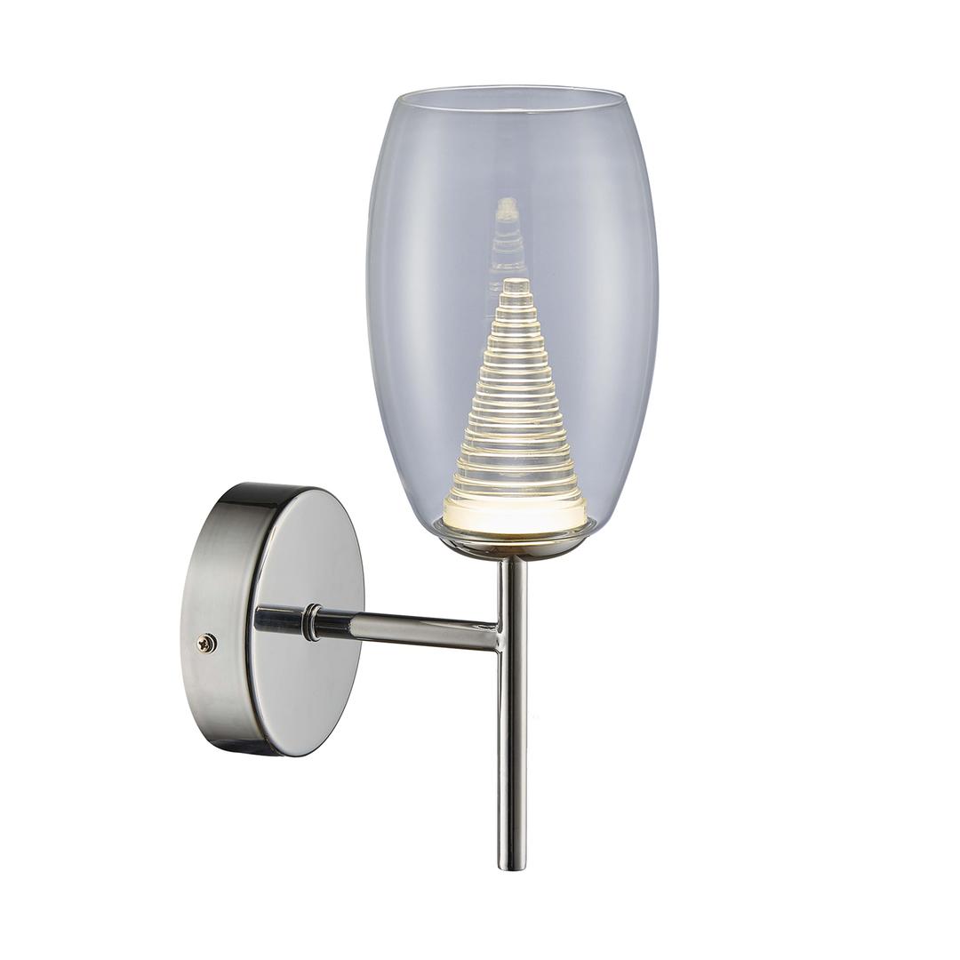 Zuma Line MB1622-1 ENZO CHROME TRANSPARENT WALL LAMP