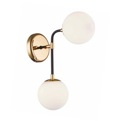 Zuma Line W0454-02A-SDAA RIANO WALL LAMP GOLD + BLACK + OPAL