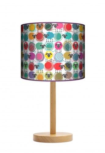 Lampa stojąca duża - Owcza wełna