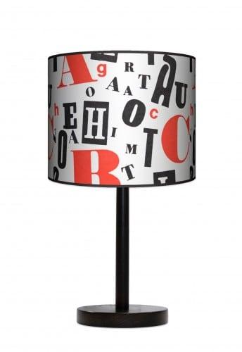 Lampa stojąca duża - Retro typografia