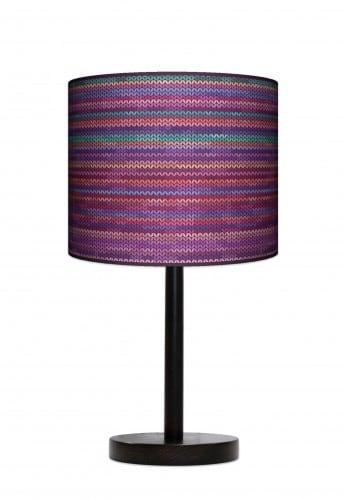 Lampa stojąca duża - Rattan fiolet