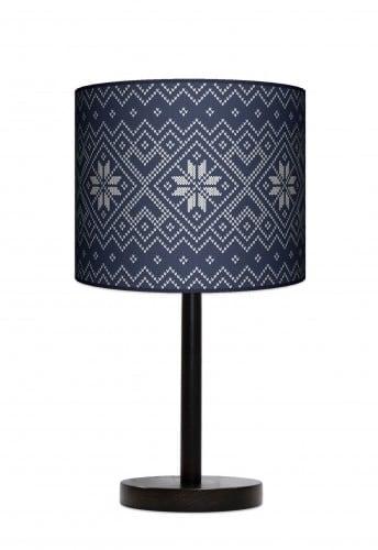Lampa stojąca duża - Niebieska dzianina