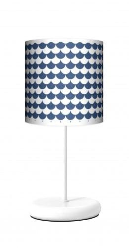 Lampa stojąca EKO - Łuska blue