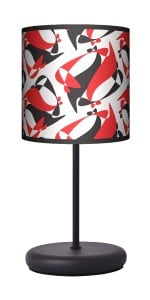 Lampa stojąca EKO - Black Red White