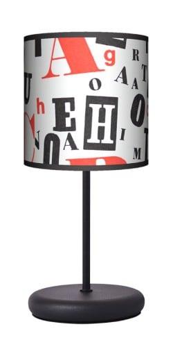 Lampa stojąca EKO - Retro typografia