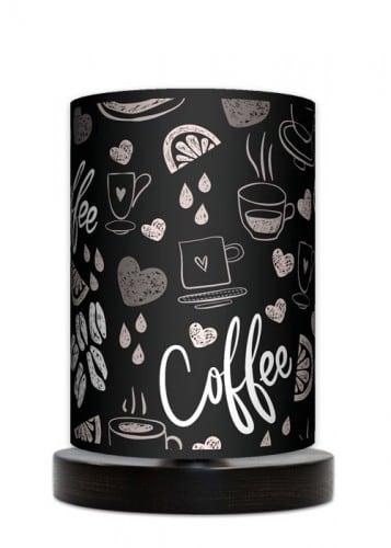 Lampa stojąca mała - Coffee time black