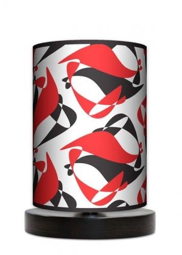 Lampa stojąca mała - Black Red White