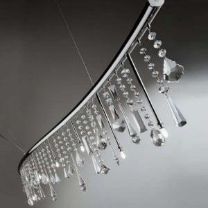Hanging lamp Beby Italy SINUS SWAROVSKI small 0