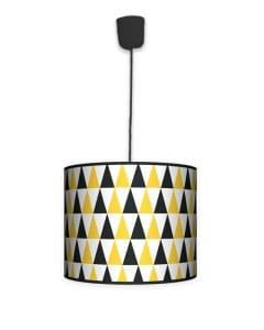 Lampa wisząca mała - Black & yellow