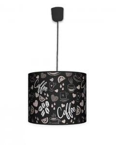 Lampa wisząca mała - Coffee time black