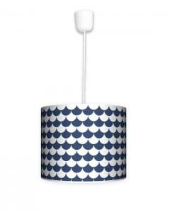 Lampa wisząca mała - Łuska blue