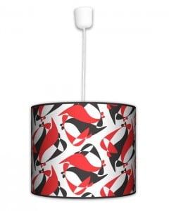 Lampa wisząca duża - Black Red White