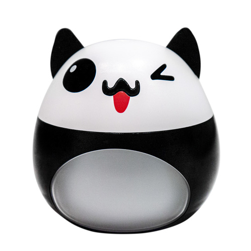 White - black LED humidifier in the shape of a cat with a fan and a USB lamp