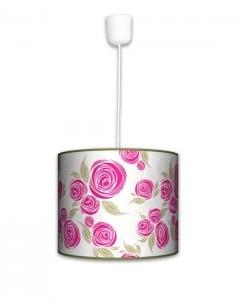 Lampa wisząca mała - Pink rose
