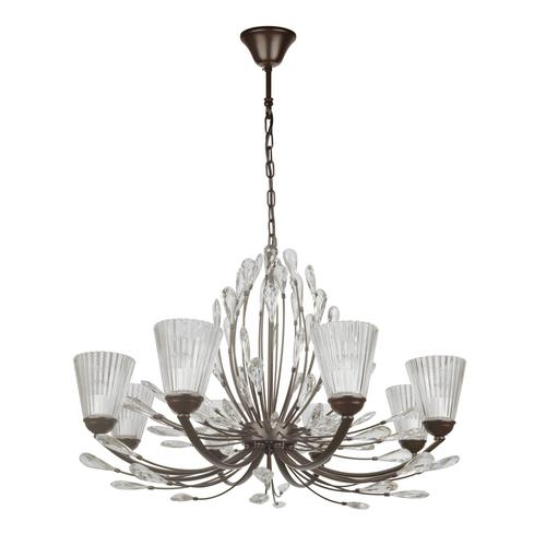 Hanging lamp Leticia Flora 8 Black - 343012008