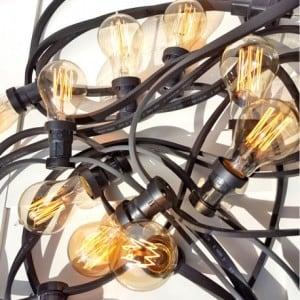 Black Light String for restaurant - 10m with 10 lampholders small 3