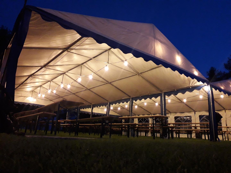 Black Garden Light String 30m 60 Lampholders
