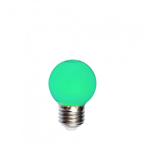 Light bulb for garlands LED ball 45mm 1W green