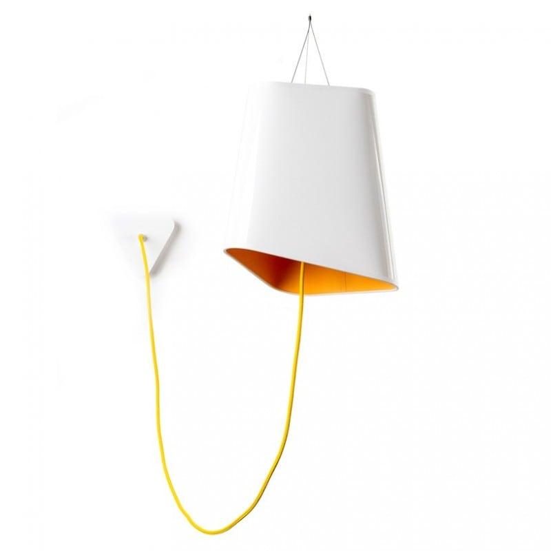 Loft Trigone yellow and white pendant lamp