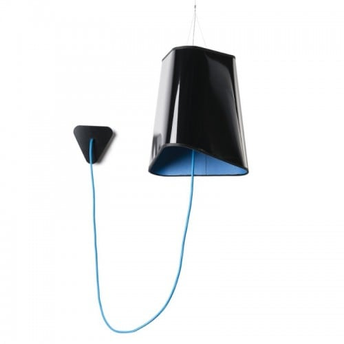Loft Trigone turquoise and black pendant lamp