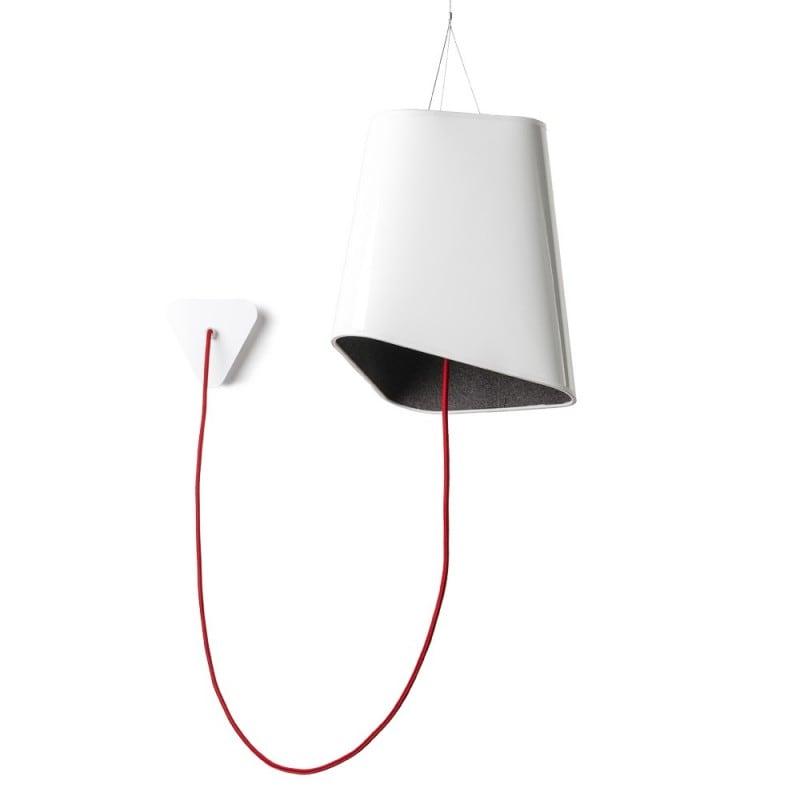 Loft Trigone gray-white pendant lamp