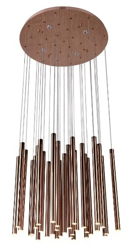 ORGANIC COPPER pendant lamp with dimmable light function P0174D Max Light