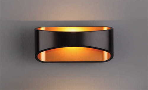 HUGO sconce black W0054 Max Light