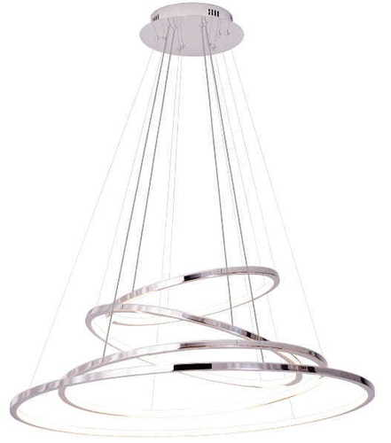 QUEEN IV hanging chrome lamp with dimmable light P0374D MAX LIGHT