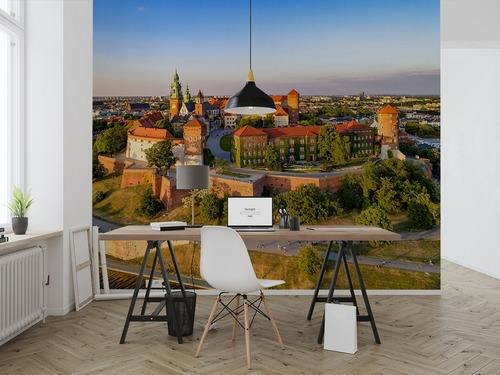 Wall mural Krakow Walel Aerial View In Late Spring
