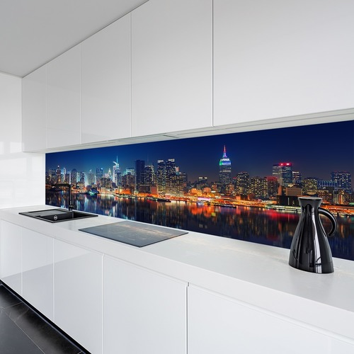 Wall mural Panoramic New York Manhattan illuminated at night