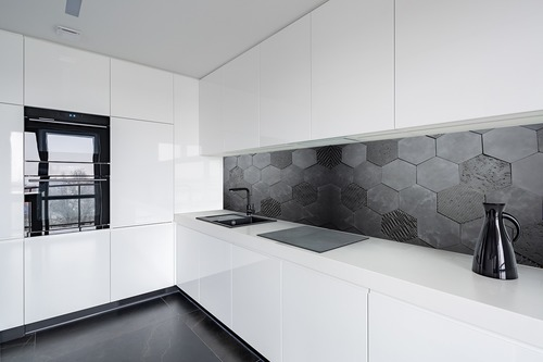 Wall mural 3D Honeycomb, anthracite, concrete, Hexagon, loft style