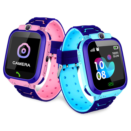 Blue Smartwatch for children with GPS location