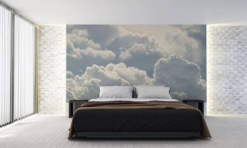 Wall mural clouds for the bedroom, sky, white, lightness