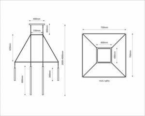 Alha H 9010- SHILO-DOHAR hanging lamp small 5
