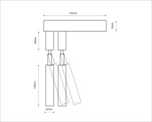 Modern wall lamp SHILO-DOHAR alha E 9014 small 8