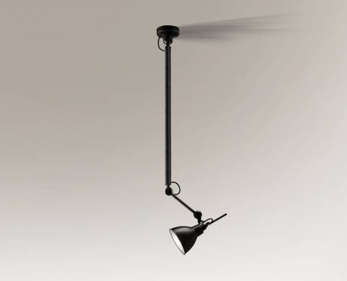 Hanging lamp above the DAISEN 5624 Shilo E27 designer table, with extension arm