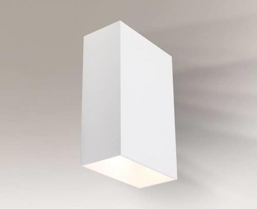 Rectangular wall lamp Shilo Hirado IP44 8049