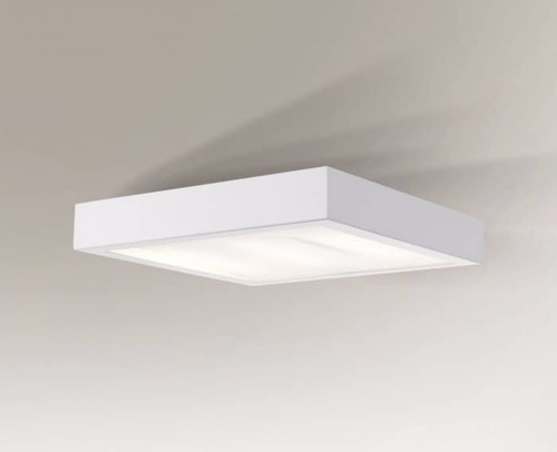 Square IP44 ceiling lamp Shilo Nomi 8024