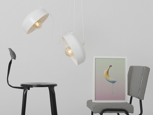 Hanging lamp POPO FLAT L 2 - white small 1