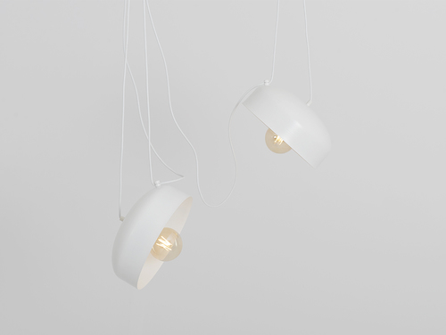Hanging lamp POPO FLAT L 2 - white