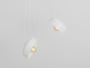 Hanging lamp POPO FLAT L 2 - white small 0