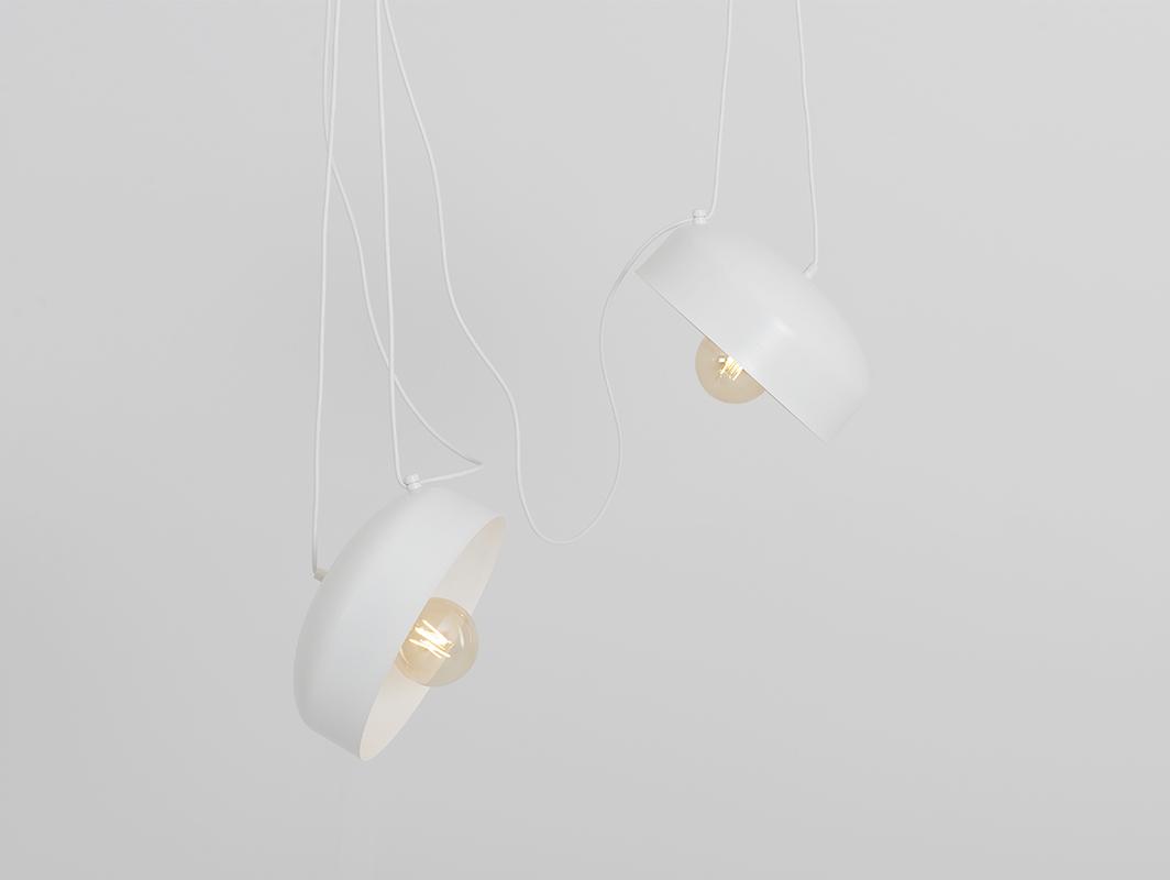 Hanging lamp POPO FLAT L 2 - white
