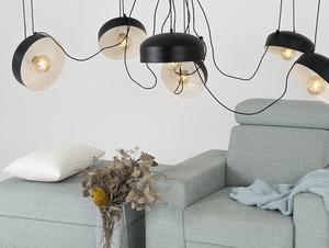 Hanging lamp POPO FLAT L 6 - black small 1