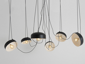 Hanging lamp POPO FLAT L 6 - black small 3