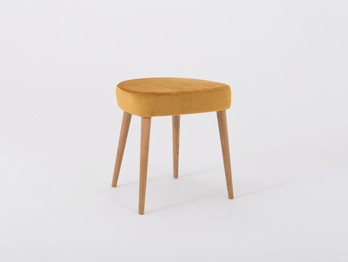 Upholstered KIKO wooden stool, passion fruit