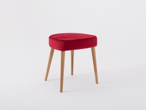 KIKO wooden stool, juicy cranberry