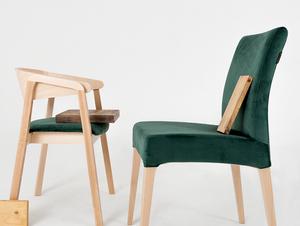 Modern DIANA dining chair beech, avocado small 1